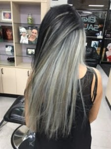 Hair Coloring and Highlights Photo